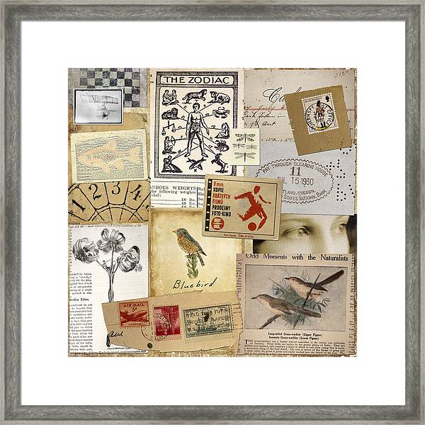 Scrapbook Page Number 1 Framed Print