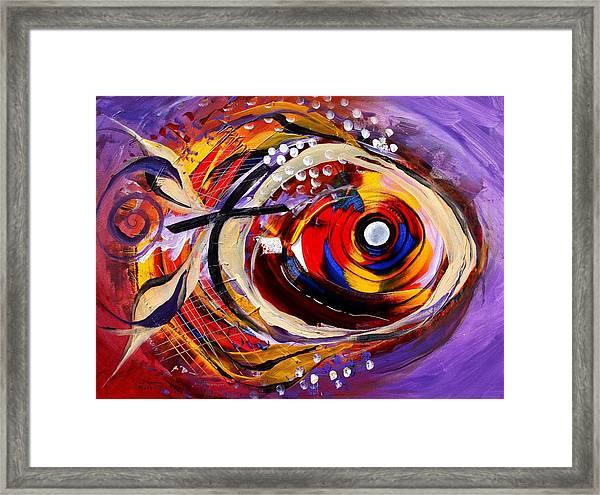 Scripture Fish Framed Print