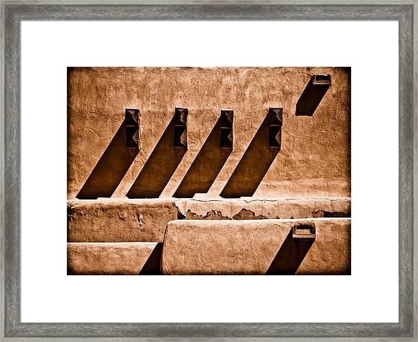 Framed Print featuring the photograph Albuquerque, New Mexico - Scupper Beam by Mark Forte
