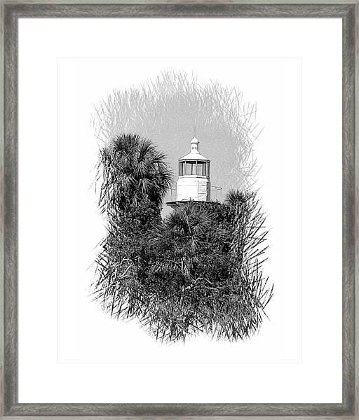 Sea Horse Key Light Framed Print