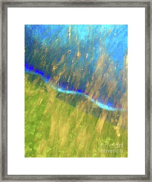 Seam Framed Print