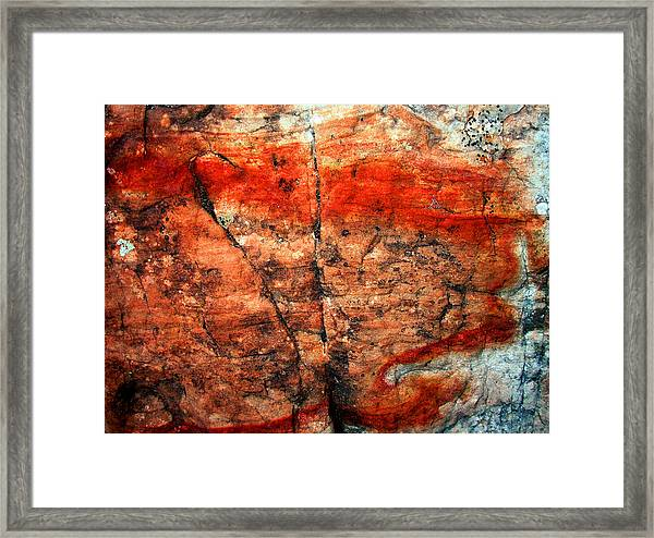Sedona Red Rock Abstract 2 Framed Print