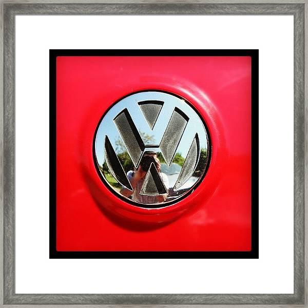 See Me? #car #badge #carbadge Framed Print
