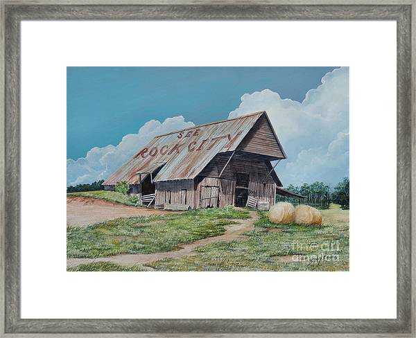 See Rock City Sold  Framed Print