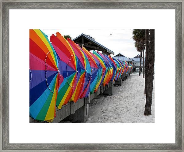 Send Storm Framed Print