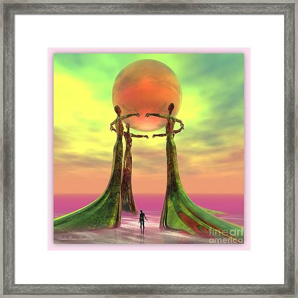 Framed Print featuring the digital art Sentinels II by Sandra Bauser Digital Art