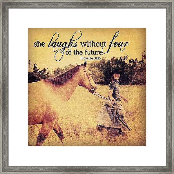 she Is Clothed With Strength And Framed Print