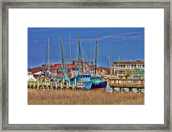 Shem Creek Shrimpers Framed Print