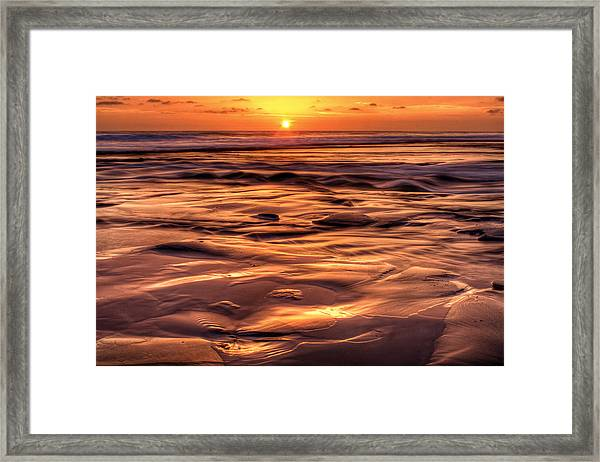 Shifting Sand And Shoreline Framed Print by Donna Pagakis