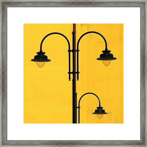 Shine On.. #italy #lamppost Framed Print