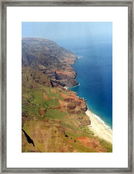 Shinning Seashore Framed Print