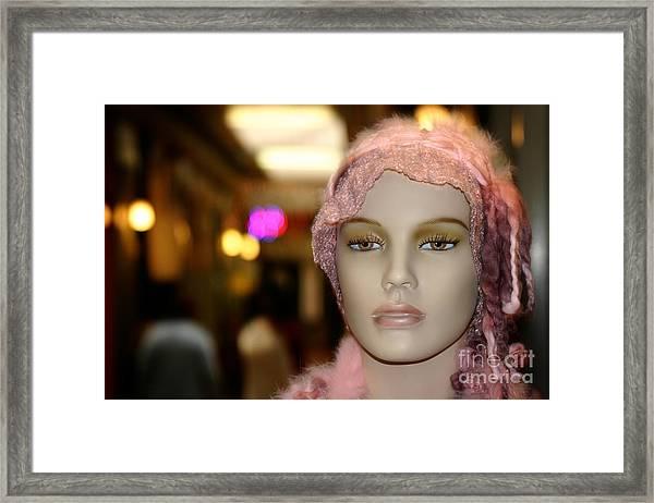 Shopping Girl Framed Print