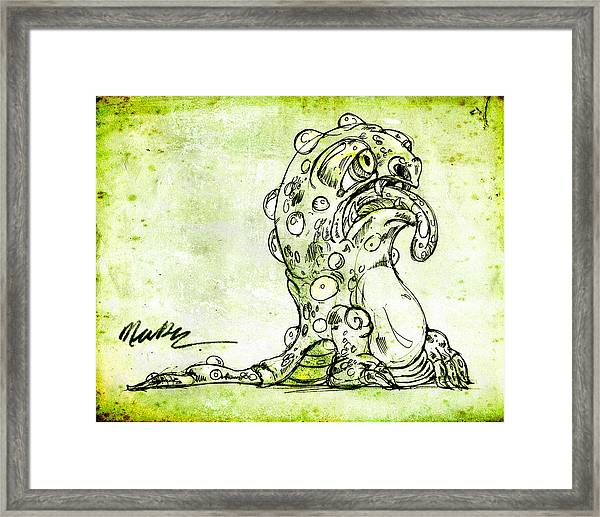 Sick Monster  Framed Print