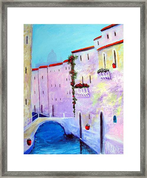Side Canal Of Venice Framed Print