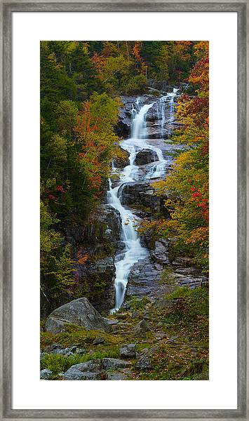 Silver Cascade Waterfall Framed Print