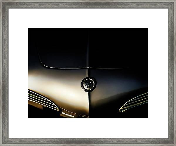 Silver Shadow Framed Print
