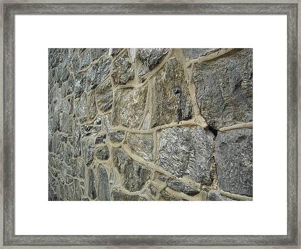 Silver Stone Framed Print