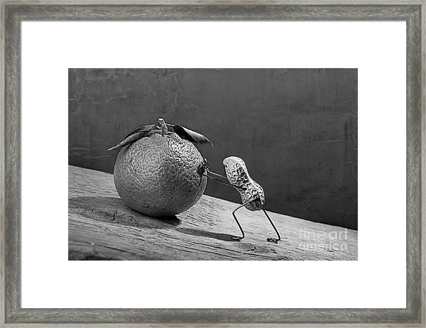 Simple Things - Sisyphos 02 Framed Print