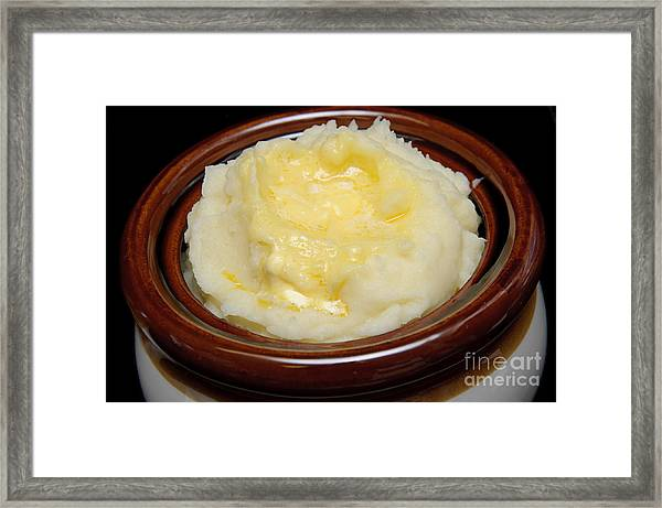 Simply Mashed Potatoes Framed Print