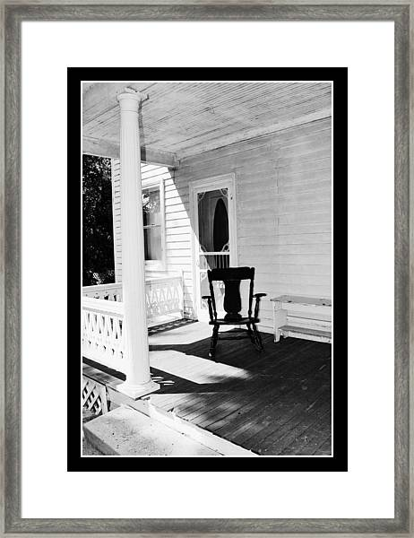 Sit For A Spell Framed Print