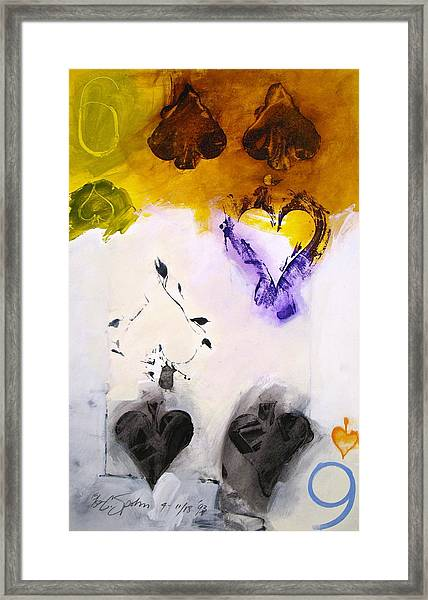 Six Of Spades 15-52 Framed Print