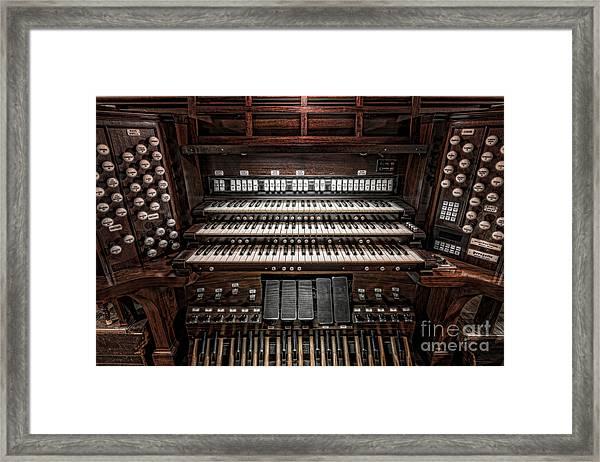 Skinner Pipe Organ Framed Print