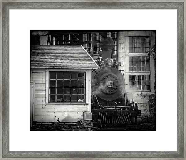 Skunk Trains Cabin Framed Print