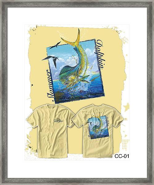 Slammer Dolphin Framed Print