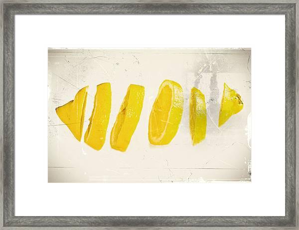 Sliced Lemon Framed Print