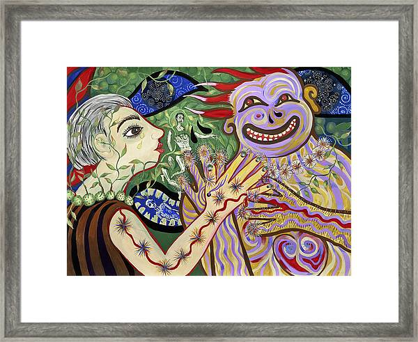 Smiles And Tears Framed Print