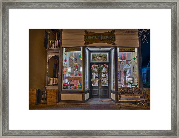 Smithfield Interiors Framed Print by Williams-Cairns Photography LLC