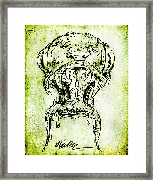 Snake Monster  Framed Print
