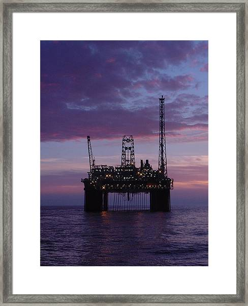 Snorre At Dusk Framed Print