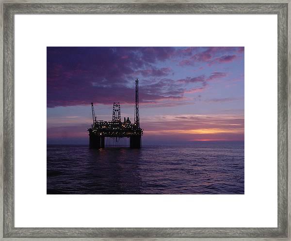 Snorre Sunset Framed Print