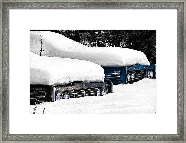 Snow Racers Framed Print