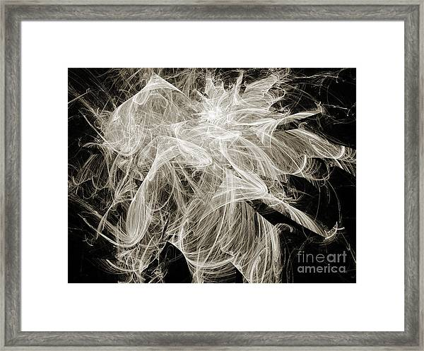 Snow Storm Abstract Framed Print