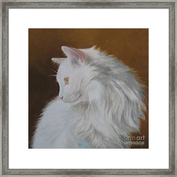 Snowball Framed Print