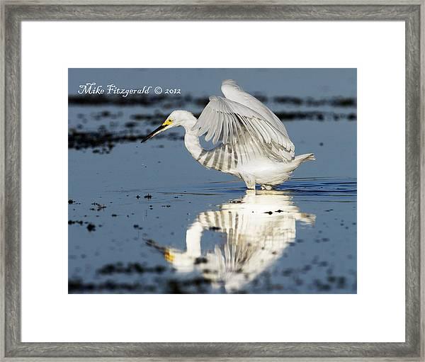 Snowy Morning Reflection Framed Print