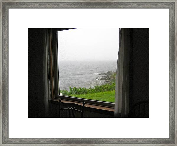 Socked-in In September Framed Print