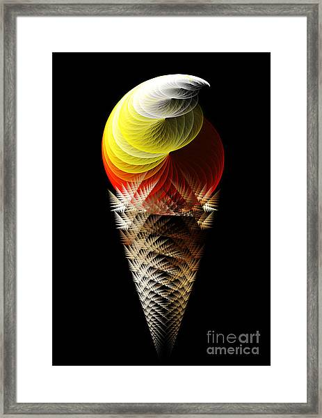 Soft Serve Ice Cream Citrus Swirl Framed Print