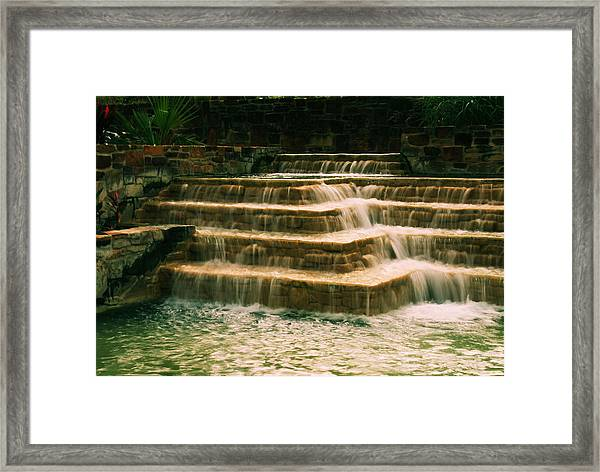 Soft Waterfall Framed Print