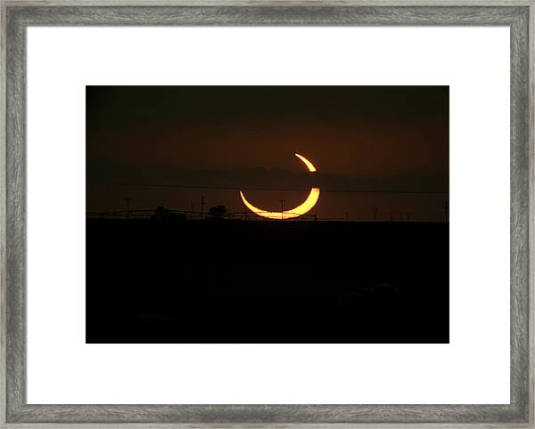 Solar Eclipse In Lubbock Texas Framed Print