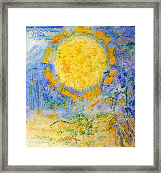 Solar Fish Framed Print
