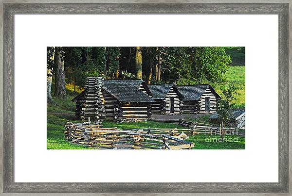 Soldiers Quarters At Valley Forge Framed Print