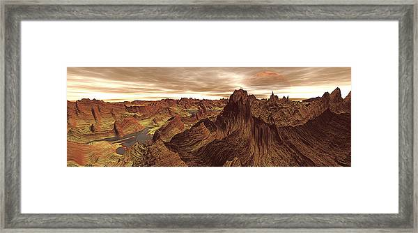Solitarty Panorama Digitally Created Framed Print
