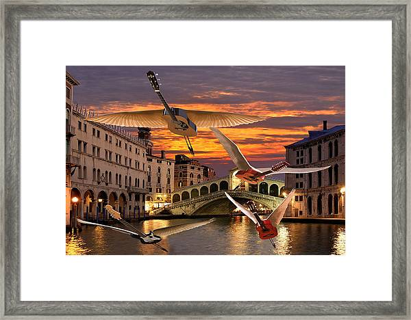 Framed Print featuring the digital art Someone Like You Rocks by Eric Kempson