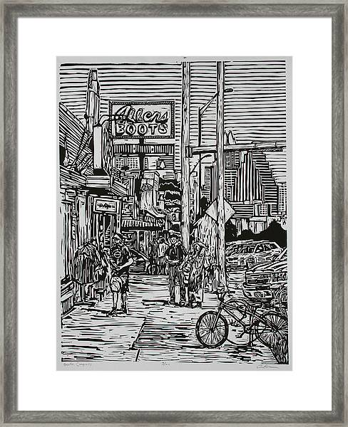 South Congress Framed Print
