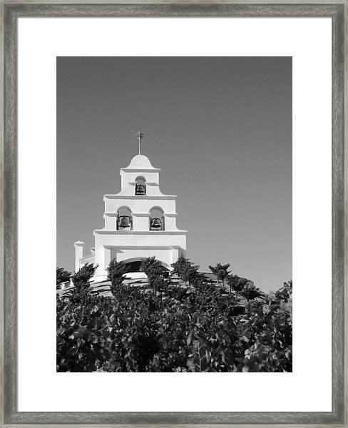 Spanish Mission In The Vineyards I Framed Print