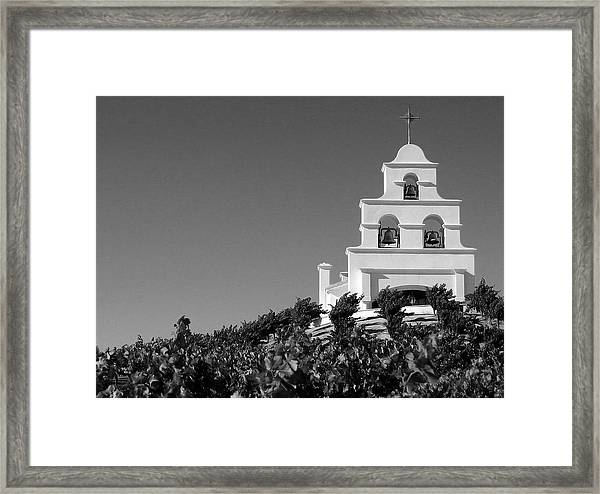 Spanish Mission In The Vineyards II Framed Print