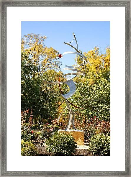 Spatial Summersaults Framed Print by Mac Worthington